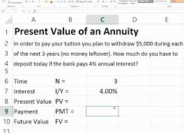 present value of ordinary annuity in excel you rh you future value of annuity due table future value of annuity due