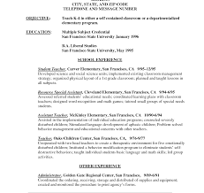 Resume Examples For Teachers With No Experience Firstr Teacher Resume Examples Of Resumes Template No Experience 24st 24