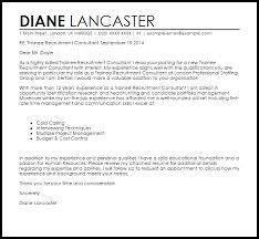 Recruitment Consultant Cover Letter Example Trainee Recruitment