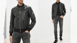 Черная кожаная <b>куртка Les Hommes Urban</b> купить в Мурманске ...