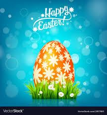 Easter Egg Hunt Blue Background April Holidays