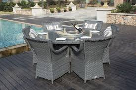 grey rattan dining table. conservatory 6 seater grey rattan dining table garden furniture patio set | maxi