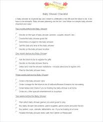 Baby Shower Checklist Template Luxury Free Templates Word Excel