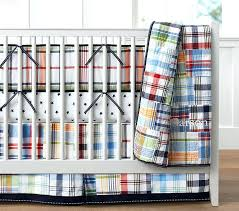 boys plaid quilt madras comforter set baby bedding pottery barn kids