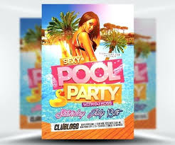 Beach Party Flyers A Pool Flyer Template Summer Free – Rigaud