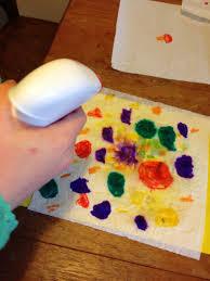 Kitchen Towel Craft Colour Spread Art My Kid Craft