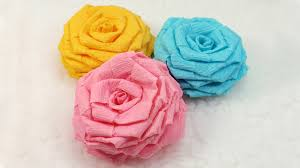 Making Flower Using Crepe Paper Flower Crepe Paper Diy Zlatan Fontanacountryinn Com