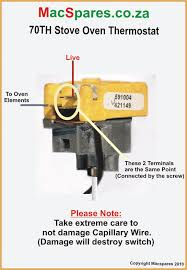type 591004 70th thermostat 6mm shaft screw mount macspares Defy Fridge Thermostat Wiring Diagram stove oven thermostat 70 th screw mount (see wiring diagram Honeywell Thermostat Wiring Diagram