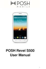 POSH REVEL S500 USER MANUAL Pdf ...