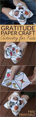 Thanksgiving Craft For Kids Gratitude Activity For Kids Thanksgiving Cootie Catcher Easy