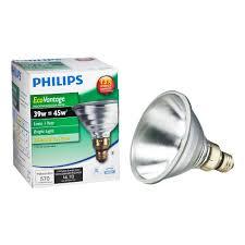 Fluorescent Spot Light Bulbs Philips 39 Watt Equivalent Halogen Par38 Indoor Outdoor Spotlight Bulb