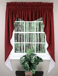 emery curtains are a poly cotton blend three piece swag set jabot curtains