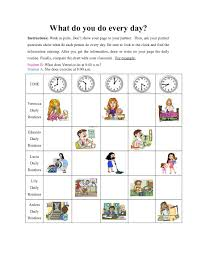 Exercise Daily Routine Chart
