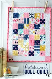 Patchwork Doll Quilt Tutorial found on polkadot chair blog   Doll ... & A free sewing pattern for a patchwork doll quilt on the polka dot chair  blog. Adamdwight.com