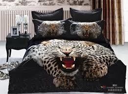Unique cool comforter sets cool animal panther man boys bedding set active  printed cotton comforter sets
