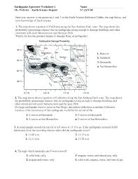 Earthquake Reading Comprehension Worksheets For High School Passage ...