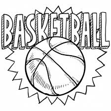 coloring pages of basketball. Delighful Basketball Free Coloring Sheet Of Basketball For Kindergarten And Pages Pinterest