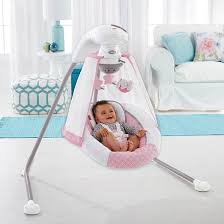 Baby Swing With Light Canopy Fisher Price Starlight 6 Speed Singing Cradle N Swing With