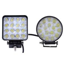 Led Lights How They Work 48w Led Car Work Light Waterproof Offroad Boat Truck Tractor Led Light Driving Flood Beam Spotlight Headlight Led Operating Lights Led Portable Lamp