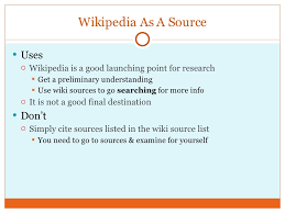 Dealing With Citing Wikipedia