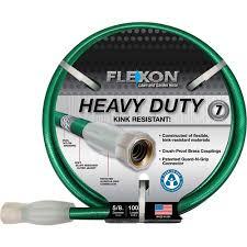 flexon garden hose. Flexon 100\u0027 Heavy-Duty Green Garden Hose L