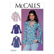 Mcalls Patterns Best McCalls Patterns M48 Misses Tops and Tunic with Banded VNeck