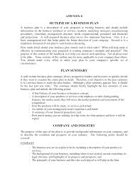 Company Description Template Business Plan Example Company Description Business Plan Samples 11