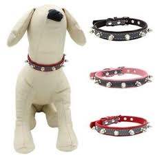 Puppy Collar Size Chart Details About Dog Pet Spiked Studded Rivet Leather Collar Puppy Cat Adjustable Neck Strap