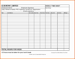 Free Printable Weekly Employee Time Sheets Multiple Pdf