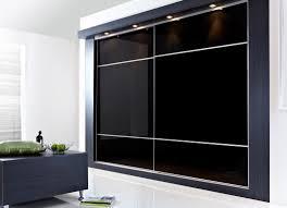 Modern Fitted Bedroom Furniture Furniture Large Black Glass Bedroom Cabinet With Sliding Door