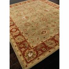 wool area rugs 10x14 rugs hand tufted oriental pattern wool green red area rug green 10