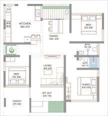 5 cent 3 bedroom budget home design