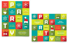 Free Templates For Posters Work Christmas Party Poster Template Design