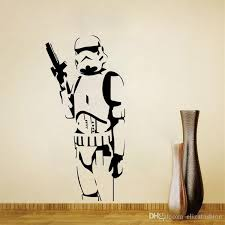 star wars silhouette wall art sticker decal diy home decoration decor wall mural removable bedroom sticker