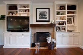 diy built in cabinets beside fireplace ideas