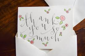 DIY calligraphy thank you cards