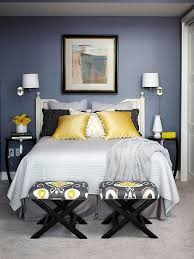 Gray Yellow And Blue Bedroom Ideas