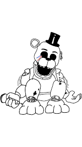 Fnaf Coloring Pages Golden Freddy Coloring Daily