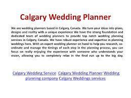 Wedding Planner Ppt Ppt Calgary Wedding Coordination Powerpoint Presentation Id 7176500