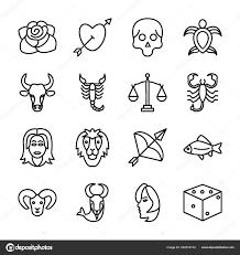 Tetování Vzory Ikony Pack Stock Vektor Prosymbols 222816734