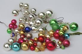 Glass Balls For Decoration vintage Christmas decorations holiday ornament floral picks 75