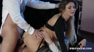 Double penetration fun and messy facial ending in threesome for.
