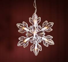 Large Snowflake String Lights - Lighting Christmas and Winter Holiday Crafts