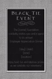 Formal Black Tie Event Invitation Dinner Reception Poster Template