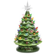 Pre-Lit Ceramic Tabletop Christmas Tree – Best Choice Products