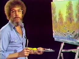 still from the first episode of the joy of painting with bob ross