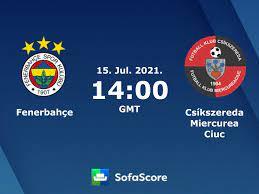 Fenerbahçe vs Csíkszereda Miercurea Ciuc live score, H2H and lineups