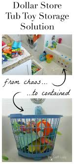 $1 Tub Toy Storage Solution