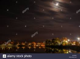 Lighting Stores Peterborough Ontario Night Lights Over Railway Bridge Over Ottonabee River