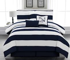 Small Picture Amazoncom 7pc Microfiber Nautical Themed Comforter Set Navy